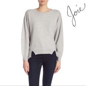 Joie Gray Kyren Wool Women's Sweater Boat neck S
